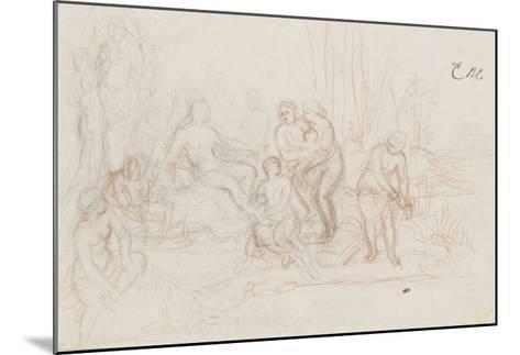 Moïse sauvé des eaux-Charles Le Brun-Mounted Giclee Print