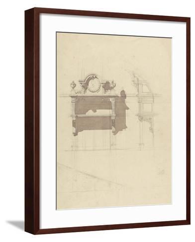 Esquisse de boiserie sculptée-Antoine Zoegger-Framed Art Print