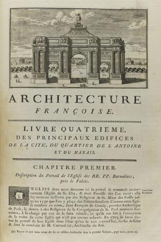Page  99 : page de titre du Livre Quatrième . Vue de l'arc de triomphe en l'honneur de Louis XIV-Pate-Stretched Canvas Print