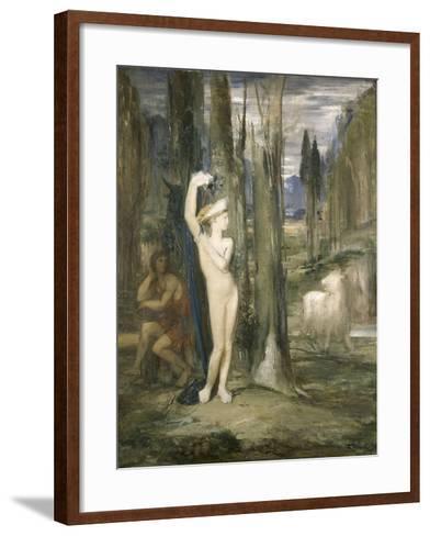 Pasiphaé-Gustave Moreau-Framed Art Print