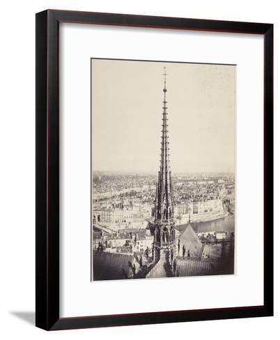 Paris, Flèche de Notre-Dame, en plomb et cuivre martelé, Viollet le Duc-Charles Marville-Framed Art Print