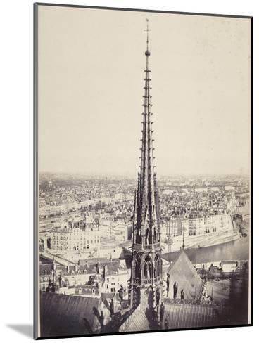 Paris, Flèche de Notre-Dame, en plomb et cuivre martelé, Viollet le Duc-Charles Marville-Mounted Giclee Print