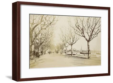 La promenade des Anglais à Nice--Framed Art Print