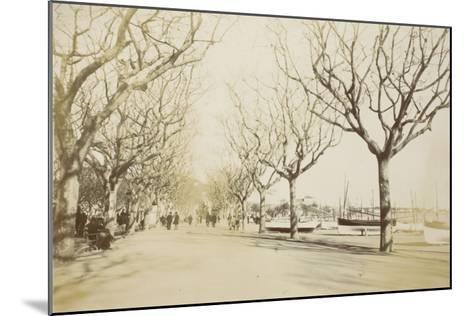 La promenade des Anglais à Nice--Mounted Giclee Print