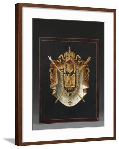 Panneau d'Armoiries aux armes de Napoléon III--Framed Art Print