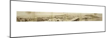 Vue panoramique du port d'Alger--Mounted Giclee Print