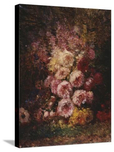 Pivoines-F?lix Ziem-Stretched Canvas Print