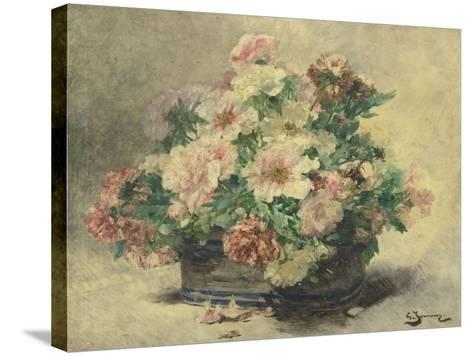 Pivoines-Georges Jeannin-Stretched Canvas Print