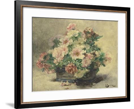 Pivoines-Georges Jeannin-Framed Art Print