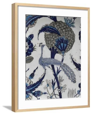 plat au paon--Framed Art Print