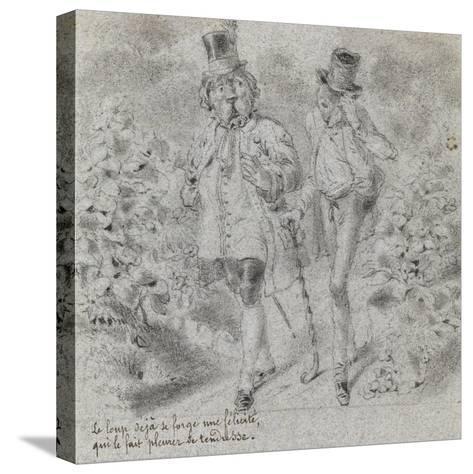 Animaux illustrés--Stretched Canvas Print