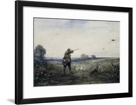 Chasse au faisan-Alexandre Gabriel Decamps-Framed Art Print