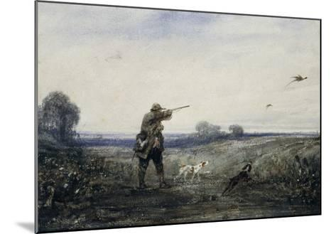Chasse au faisan-Alexandre Gabriel Decamps-Mounted Giclee Print