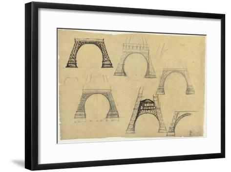 Pictures of the Decorative Arch of the Eiffel Tower-Alexandre-Gustave Eiffel-Framed Art Print