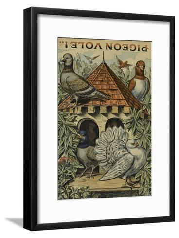 Pigeon vole--Framed Art Print