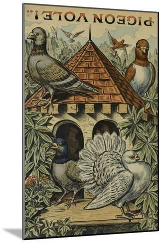 Pigeon vole--Mounted Giclee Print