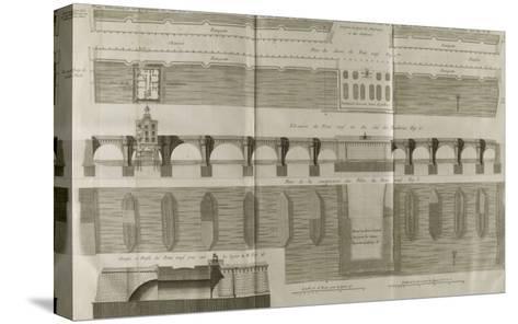 Planche 160 : Plan , ?l?vation et ?l?vation du Pont-Neuf ? Paris-Pate-Stretched Canvas Print