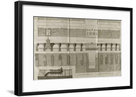 Planche 160 : Plan , ?l?vation et ?l?vation du Pont-Neuf ? Paris-Pate-Framed Art Print