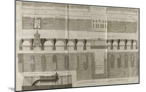 Planche 160 : Plan , ?l?vation et ?l?vation du Pont-Neuf ? Paris-Pate-Mounted Giclee Print