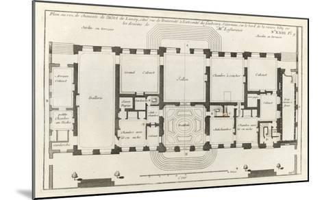 Planche 105 : Plan du rez-de-chaussée de l'Hôtel de Lassay, rue de l'Université à Paris.-Jacques-Fran?ois Blondel-Mounted Giclee Print