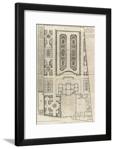 Planche 9 : Plan général des bâtiments et  des jardins de l'hôtel de la duchesse du Maine-Jacques-Fran?ois Blondel-Framed Art Print