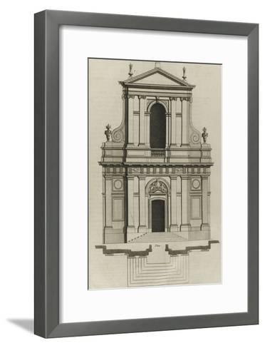 Planche 221 : Elévation du portail de l'église du couvent des Barnabites-Jacques-Fran?ois Blondel-Framed Art Print