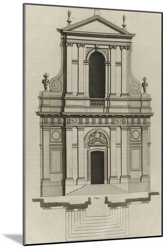 Planche 221 : Elévation du portail de l'église du couvent des Barnabites-Jacques-Fran?ois Blondel-Mounted Giclee Print