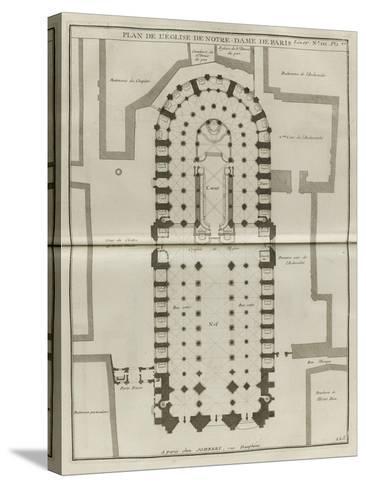 Planche 225 : Plan du rez-de-chaussée de Notre-Dame de Paris-Jacques-Fran?ois Blondel-Stretched Canvas Print