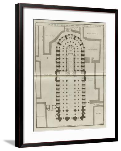 Planche 225 : Plan du rez-de-chaussée de Notre-Dame de Paris-Jacques-Fran?ois Blondel-Framed Art Print