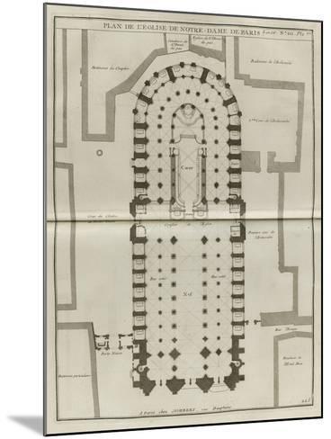 Planche 225 : Plan du rez-de-chaussée de Notre-Dame de Paris-Jacques-Fran?ois Blondel-Mounted Giclee Print