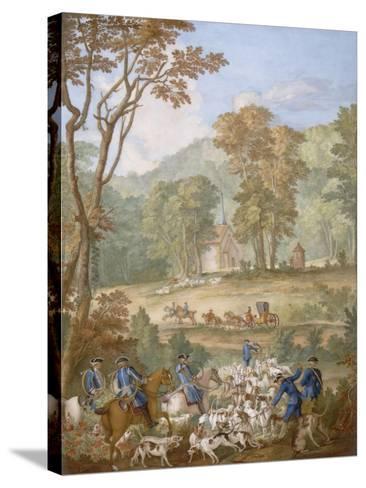 Plaque représentant les chasses de Louis XVI-Jean Baptiste Oudry-Stretched Canvas Print