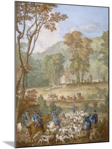 Plaque représentant les chasses de Louis XVI-Jean Baptiste Oudry-Mounted Giclee Print