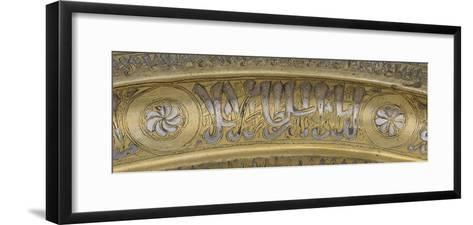 Plateau au nom du Sultan Salih Nadjim al-Din Ayyub--Framed Art Print
