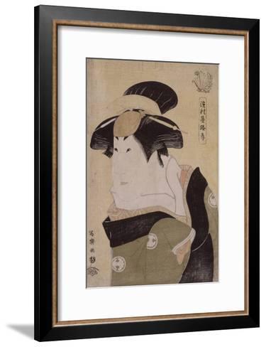 Portrait d'acteur de kabuki (okubi-e) : l'onnagata Segawa Kikunojô III-Tôshûsai Sharaku-Framed Art Print