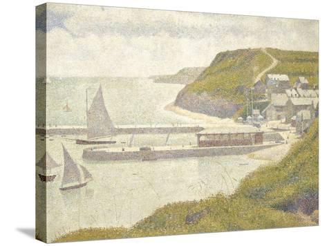 Port en Bessin, avant-port, marée haute (Calvados)-Georges Seurat-Stretched Canvas Print