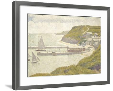 Port en Bessin, avant-port, marée haute (Calvados)-Georges Seurat-Framed Art Print