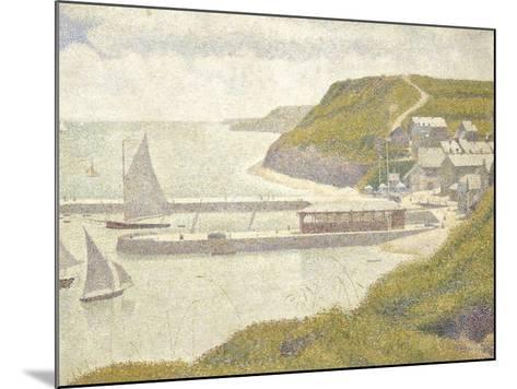 Port en Bessin, avant-port, marée haute (Calvados)-Georges Seurat-Mounted Giclee Print