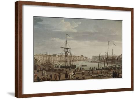 Port de Dieppe-Claude Joseph Vernet-Framed Art Print
