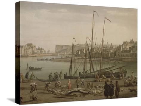 Port de Dieppe-Claude Joseph Vernet-Stretched Canvas Print