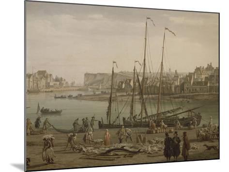 Port de Dieppe-Claude Joseph Vernet-Mounted Giclee Print