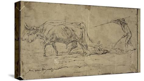 La charrue-Rosa Bonheur-Stretched Canvas Print