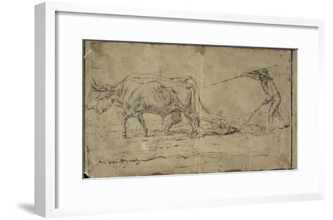 La charrue-Rosa Bonheur-Framed Art Print