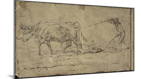 La charrue-Rosa Bonheur-Mounted Giclee Print