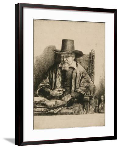 Portrait du docteur Arnold Tholinx ; 1 er état-Rembrandt van Rijn-Framed Art Print