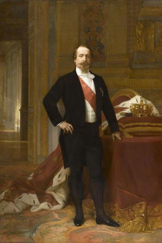 Portrait de Napoléon III-Alexandre Cabanel-Stretched Canvas Print