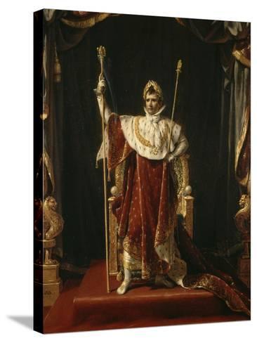 Portrait de Napoléon Ier en costume impérial-Jacques-Louis David-Stretched Canvas Print