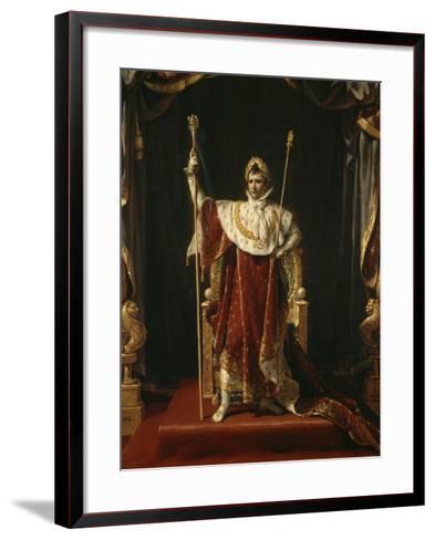 Portrait de Napoléon Ier en costume impérial-Jacques-Louis David-Framed Art Print