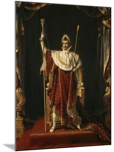 Portrait de Napoléon Ier en costume impérial-Jacques-Louis David-Mounted Giclee Print