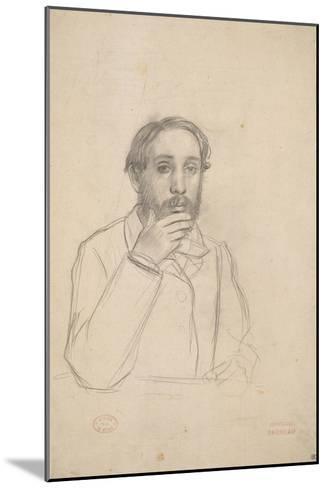 Portrait de l'artiste, étude pour le portrait de l'artiste avec Evariste de Valernes-Edgar Degas-Mounted Giclee Print