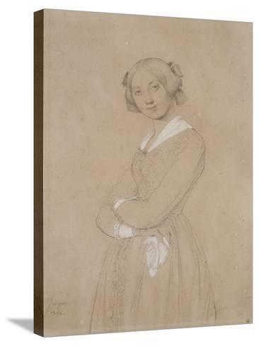 Portrait de la comtesse d'Haussonville. 1842-Jean-Auguste-Dominique Ingres-Stretched Canvas Print